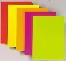 נייר צילום צבעוני בצבעי ניאון זרחניים