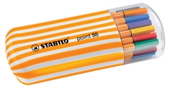 סט 20 עטים סטבילו ראש לבד- 0.4 מ``מ