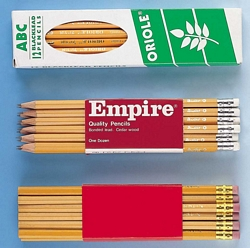 קופסא של 12 עפרונות עם מחק