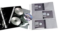 תיק פס לבן לתיוק CD שתי חבילות של 10 דף