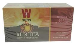 תה אדום ורד הבר ופסיפלורה