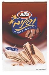 וופלים עלית בטעם שוקולד 1/2 ק``ג