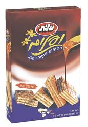 וופלים מצופים בטעם שוקולד 1/2 ק``ג