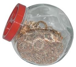 צנצנת זכוכית פנדורה 2 ליטר עם מכסה