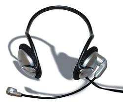 מערכת ראש למחשב- אוזניות עם מיקרופון