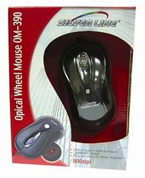 עכבר אופטי OM390 SILVERLINE חיבור USB