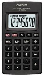HL-820 מחשבון כיס   CASIO
