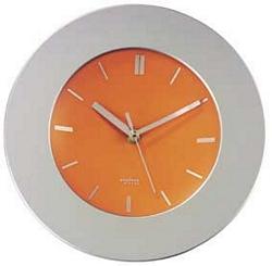 שעון קיר עגול מסגרת כסופה