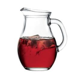 קנקן זכוכית לשתיה קרה 1 ליטר
