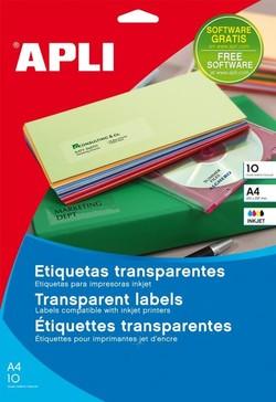 מדבקות שקופות למדפסת הזרקת דיו - 10 דפים