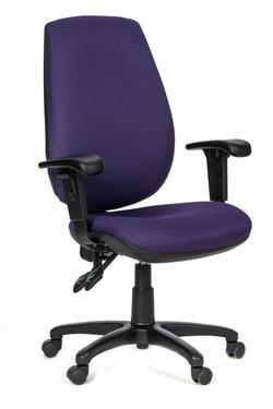 כסא עובד רוני בינוני ידיות מתכוננות.