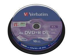 תקליטור DVD+R 8.5GB ורבטים