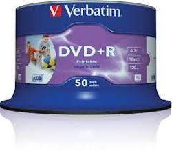 50 תקליטור DVD+R ורבטים