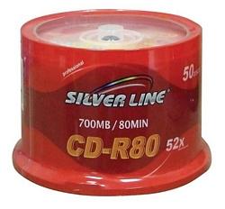 50 דיסקים סילברליין CD-R